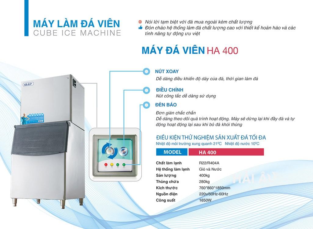 thông tin chi tiết máy HA 400