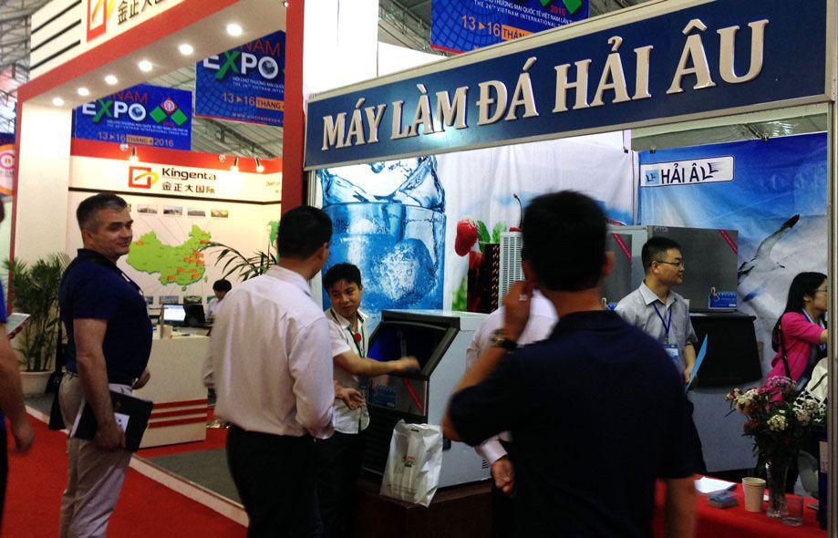 máy làm đá viên hải âu tham gia triển làm vietnam expo 2016