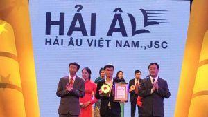 """Hải Âu Việt Nam đạt danh hiệu """"Sản phẩm tin cậy, Dịch vụ hoàn hảo, Nhãn hiệu ưa dùng năm 2016"""""""
