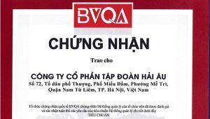 BVQA cấp giấy chứng nhận ISO 9001:2008 cho Tập đoàn Hải Âu