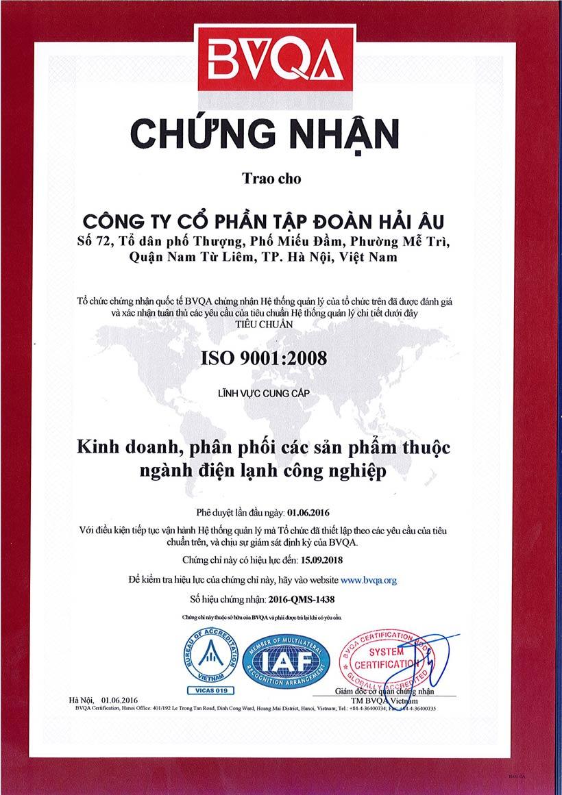 Chững nhân tiêu chuẩn ISO 9001:2008