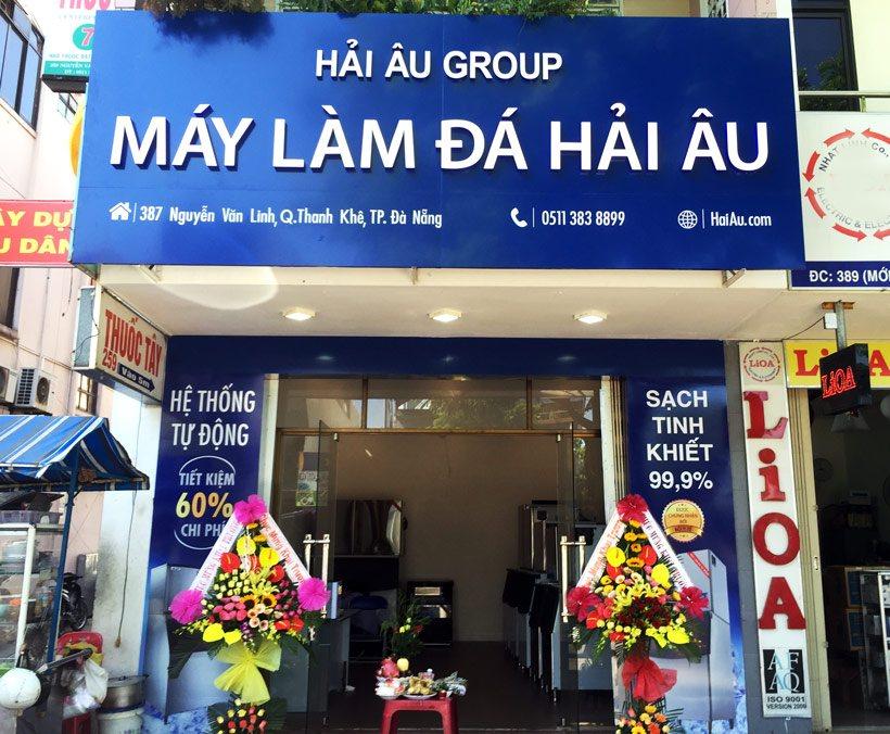 showroom máy làm đá Hải Âu tại Đà Nẵng