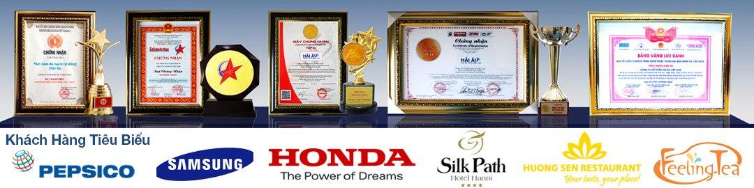 các giải thưởng chứng nhận công ty cổ phần Hải Âu Việt Nam