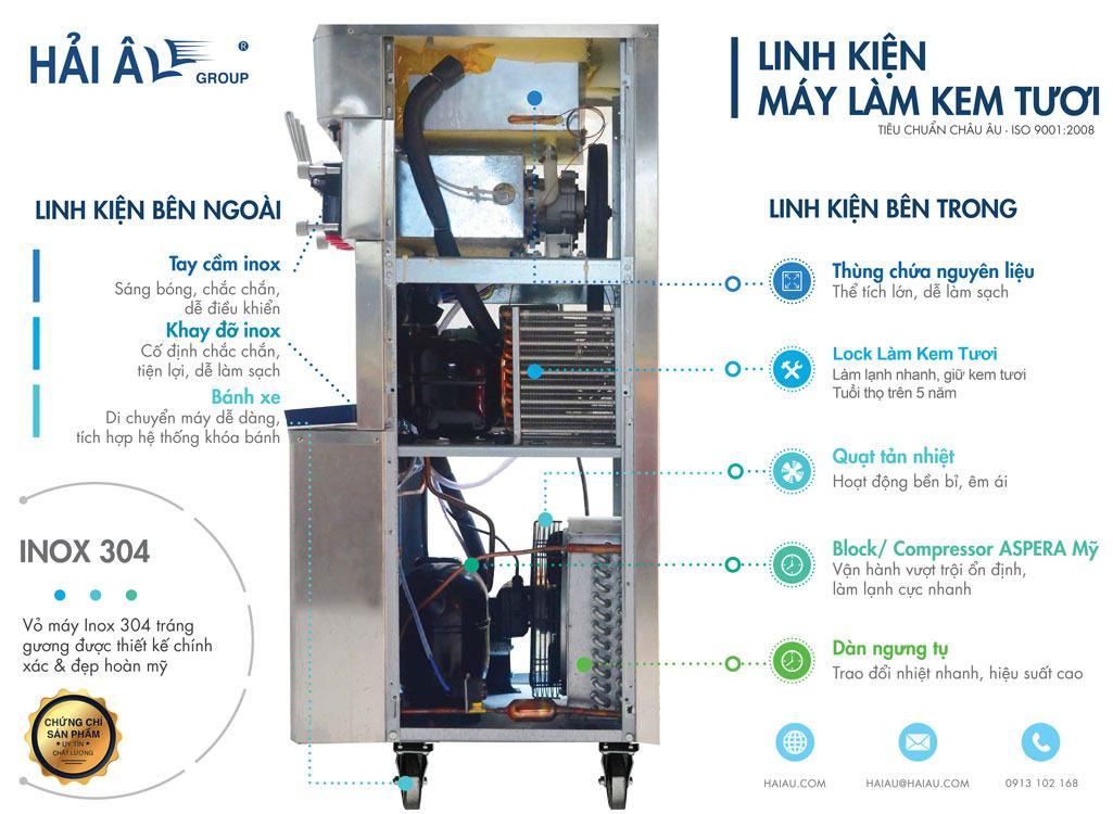 linh kiện máy làm kem tươi