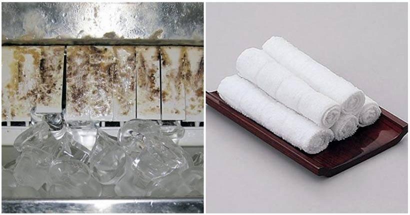 dùng khăn sạch