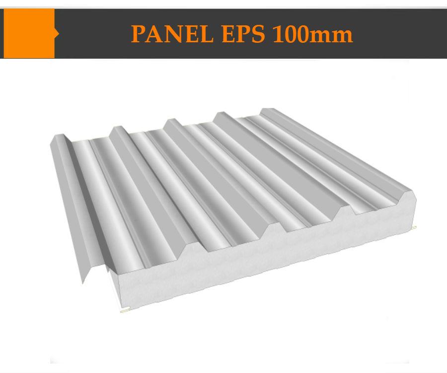 Panel EPS 100 mm hai mặt tôn lạnh cán sóng